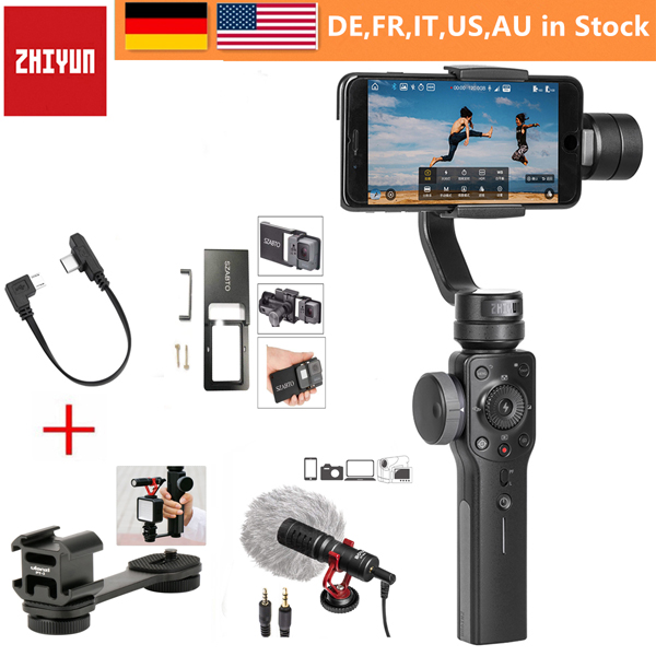 size 40 bdb45 9ee32 US $119.0 |Zhiyun Smooth 4 3 Axis Gimbal Steadicam Stabilizer for iPhone X  8 Gopro Hero 5 SJCAM SJ7 Xiaomi Yi 4k action camera-in Handheld Gimbal from  ...