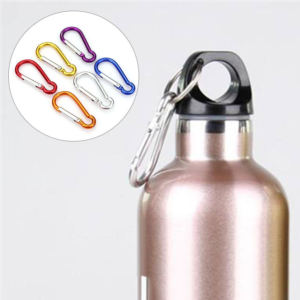Image 5 - 20Pcs Random Color Aluminum Alloy Carabiner Outdoor Hanging Buckle Water Bottle Bag Buckle-in Climbing Accessories from Sports & Entertainment