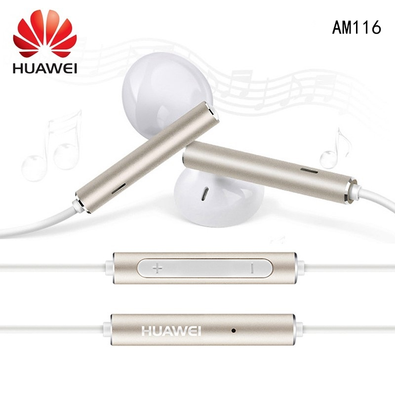 Original Huawei AM116 Earphone Earbuds Metal With Mic Volume Control For HUAWEI P7 P8 P9 Lite P10 Plus Honor 5X 6X Mate 7 8 9