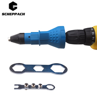 Scheppach Electric Rivet Nut Gun Riveting Tool Cordless Riveting Drill Adaptor Insert Nut Tool Riveting Drill