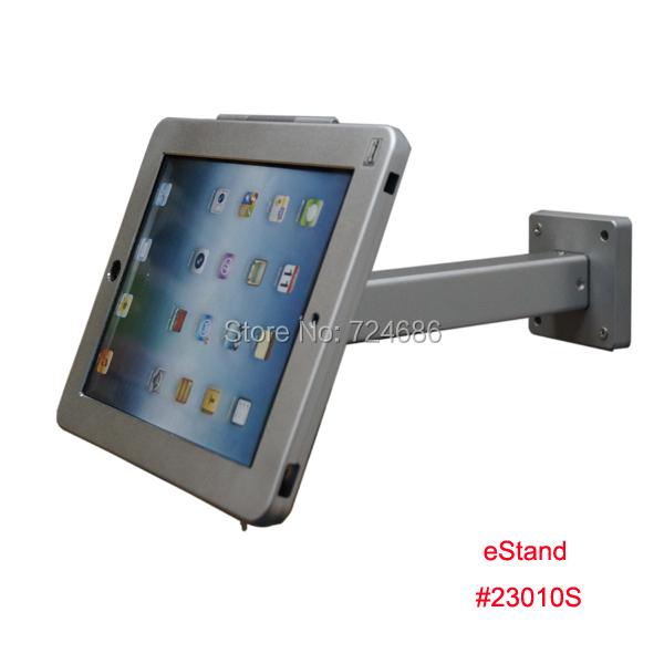 Para el ipad 2/3/4/aire de montaje en pared recinto antirrobo soporte de exhibición titular segura en tienda al por menor
