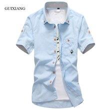 2017 Новый Летний стиль мужчины с коротким рукавом рубашки высокого качества моды случайные вышитые небольшой гриб 11 цветов мужчины тонкий рубашка