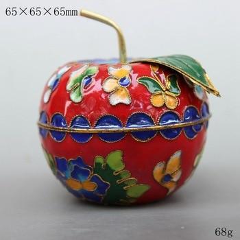 TNUKK  Chinese style enamel cloisonne enamel craft apple jar Christmas best gift. Six colors optional.