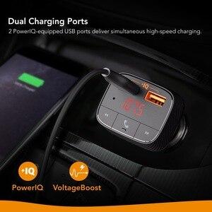 Image 3 - Anker Roav SmartCharge F0 Auto Ladegerät mit FM Transmitter Bluetooth Empfänger Bluetooth 4.2, 2 USB Ports, powerIQ AUX Ausgang