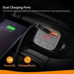 Image 3 - אנקר Roav SmartCharge F0 מטען לרכב עם FM משדר Bluetooth מקלט Bluetooth 4.2, 2 יציאות USB, powerIQ AUX פלט