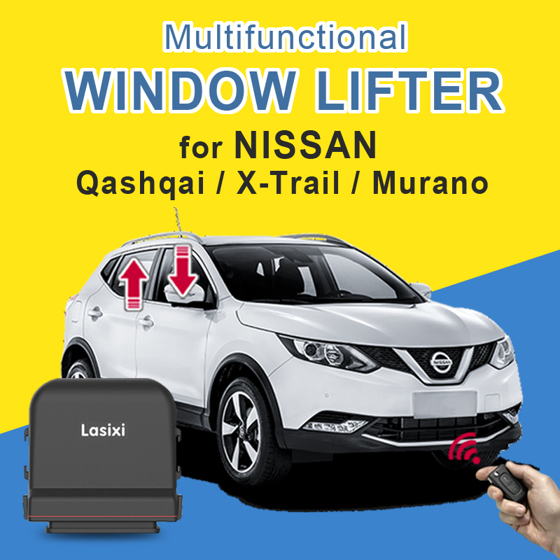 Car Power Window Roll Up Window Closer For NISSAN Qashqai X-Trail Murano Remotely Close Window Lifter Car Glass Closer