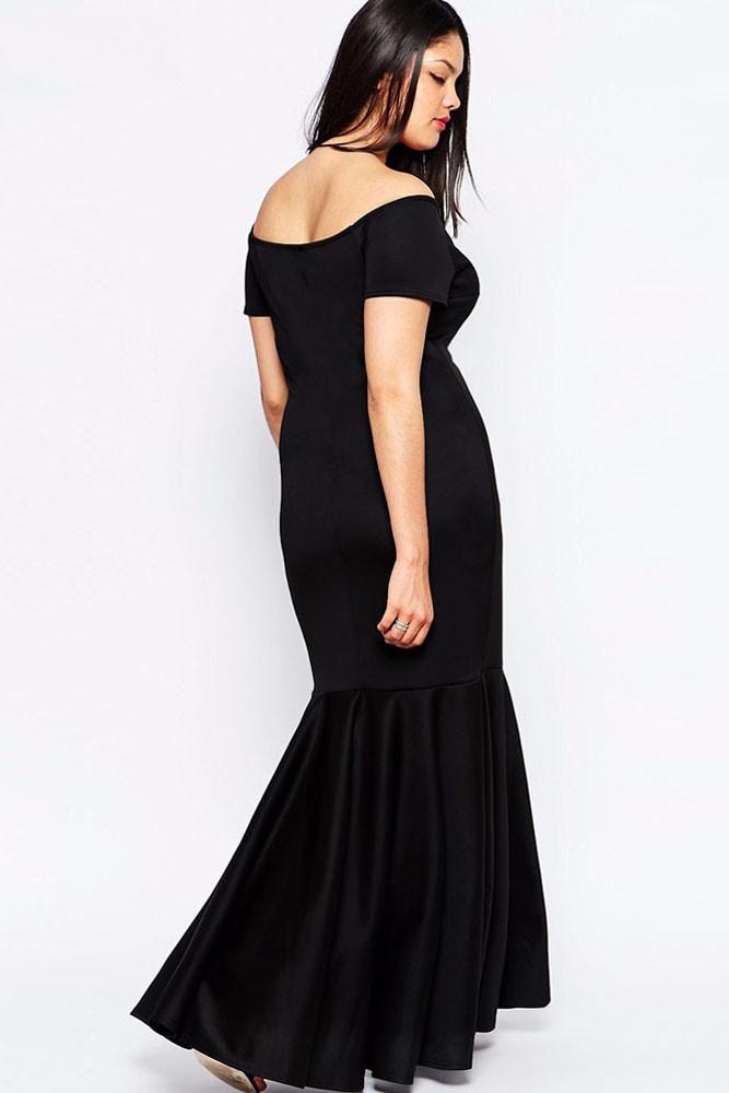 Black-Plus-Size-Off-Shoulder-Fishtail-Maxi-Dress-LC60884-7