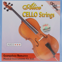 Free shipping high quality Cello use strings Alice-A803 full set Steel Core Nickel Silver Wound Cello Strings Musical Instrument