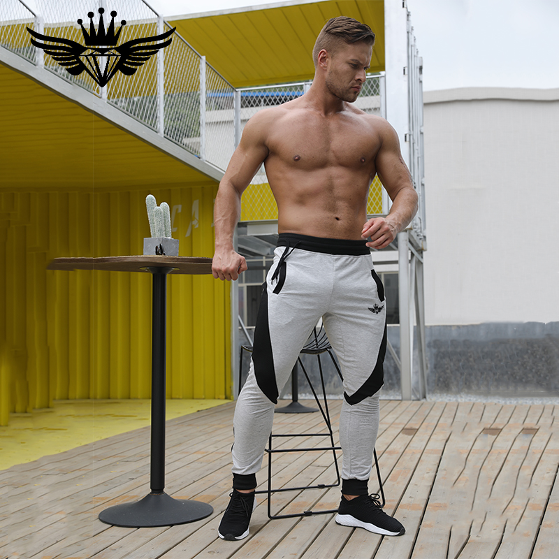 2018 Brand New Gold Medal Fitness Casual Elastic Pants Stretch Bomull Herr Byxor Gym BodyEngineers Jogger Bodybuilding Byxor