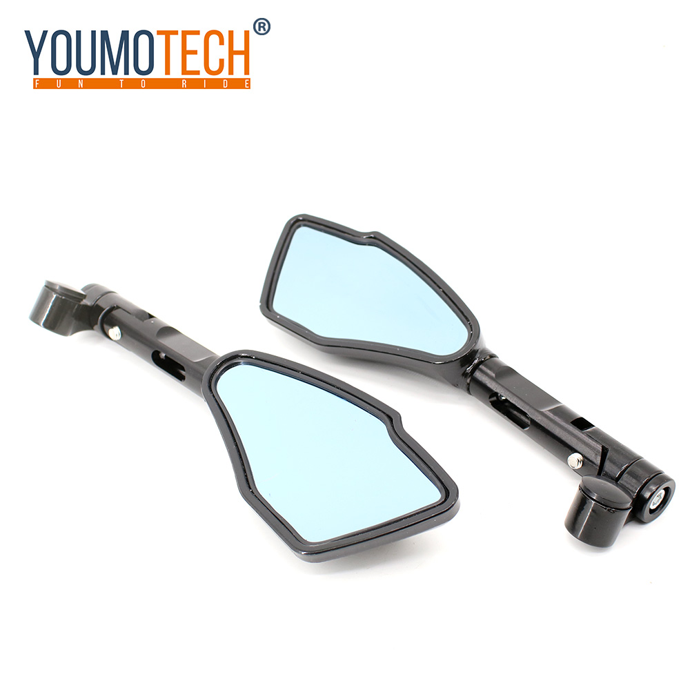 For KTM duke 390 125 200 1290 exc 450 250 300 125 1190 Motorcycle Accessories 8mm 10mm Universal Rear View Mirrors Blue Glass image
