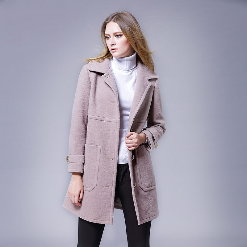 Plus Size Fashion Design Women Woolen Coat 2016 Fall Turn-down Collar Solid  Color Single - Compare Prices On Designer Woolen Womens Coats- Online Shopping