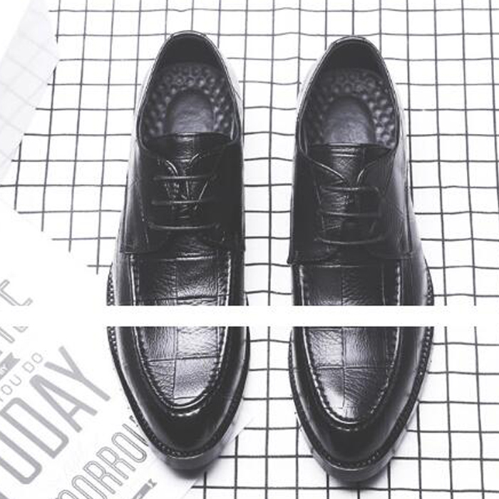 Fashion New Mens Dress Shoes Wedding Bussiness Oxfords Lace Up Party Shoes Black Man Size 45 men0003 in Formal Shoes from Shoes