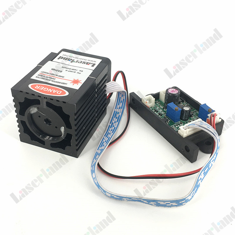 12VDC 532nm 100mW-120mW Green DOT Laser Module Diode TTL w/ Fan Tem Control 150mw 405nm blue violet purple laser diode module 12vdc ttl stage lighting
