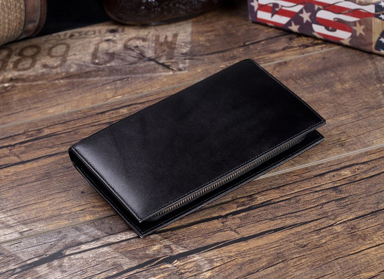 Men genuine leather wallet 8