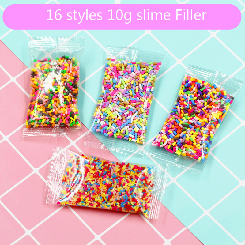 DIY 10g Fake Sprinkles Decoration For Slime Filler Slime Supplies Simulation Candy Cake Dessert Toys Slime Mud Clay Accessories