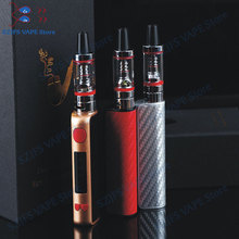 Super 80w kit with LED 2200mah battery 2ml atomizer liquid electronic cigarette vaporizer pen huge vaporizer box mod hookah kit недорого