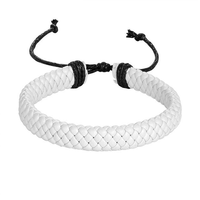 1 шт модный плетеный кожаный браслет в стиле панк мужские аксессуары