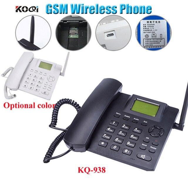 GSM cố định không dây điện thoại Bốn Băng Tần Thẻ SIM SMS Chức Năng Máy Tính Để Bàn Điện Thoại Nga Pháp Tây Ban Nha Bồ Đào Nha miễn phí vận chuyển miễn phí