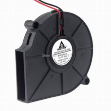 10 pieces/lot Brushless 12 volt DC Cooling Blower Fan 2Pin 7515s 7CM 75 X 15 MM 70MM