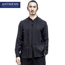 Anthesis shirt male long-sleeve stand collar shirt male 2017 spring tang suit male eastern style shirt vintage eastern style