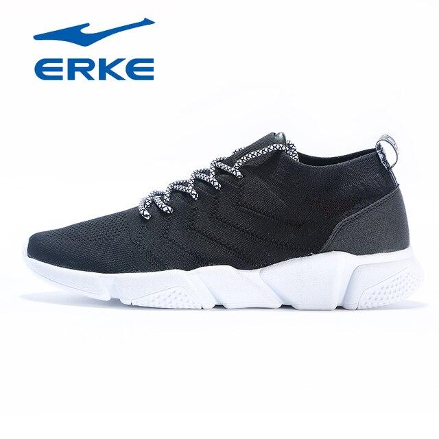 Ерке Для мужчин s кроссовки 2018 Обувь с дышащей сеткой на шнуровке Тренер Прогулки обувь Открытый спортивные кроссовки для Для мужчин удобные