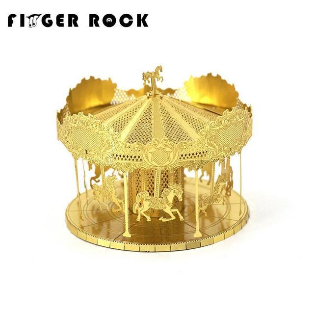 Aço inoxidável dedo golden rock merry model building kits 3d puzzle de metal de corte a laser diy brinquedos para as crianças