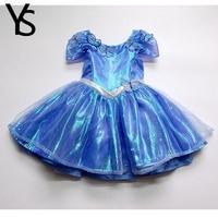 Original Brand New 2 7T Baby Girls Cinderella Dress Halloween Princess Birthday Party Evening Costume Cosplay