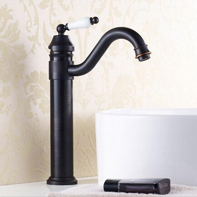 Wholesale and Retail Bathroom Black Ceramic Faucet 360 Swivel Spout Antique Elegant Sink Mixer Tap washbasin taps ZR255Wholesale and Retail Bathroom Black Ceramic Faucet 360 Swivel Spout Antique Elegant Sink Mixer Tap washbasin taps ZR255