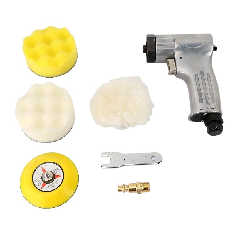 3 Inches Polishing Machine Air Sander Pneumatic Polisher Machine Set Air Grinder Polishing Machine Tool Car Polishing