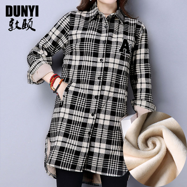 755357fffae67 Pregnant Women Cashmere Plaid Shirt New Winter Maternity Clothes Thicken  Long Sleeve Cotton Casual Blouses Ladies Tops Plus Size