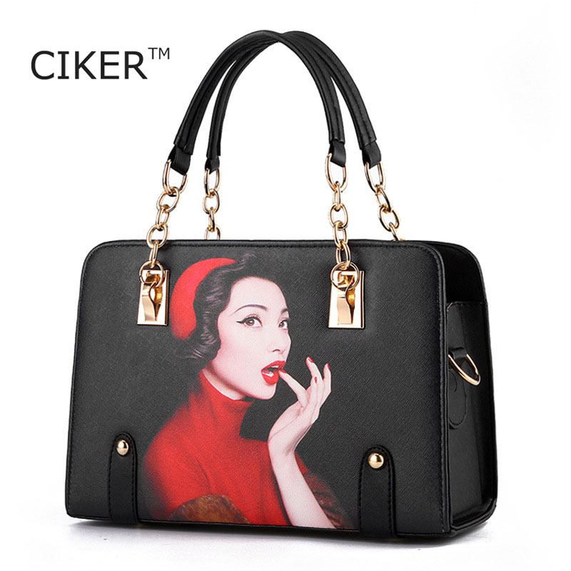 CIKER Women Leather Handbags High Quality Luxury Designer Shoulder Bags Handbags Women Famous Brands Bolsa Feminina