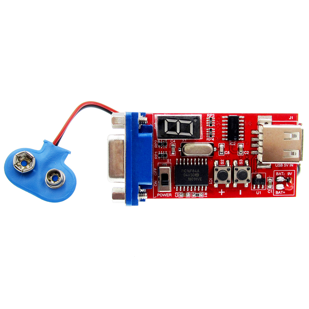 VGA Signal Generator LCD Tester 15 Signal Output USB Battery Dual Power Supply