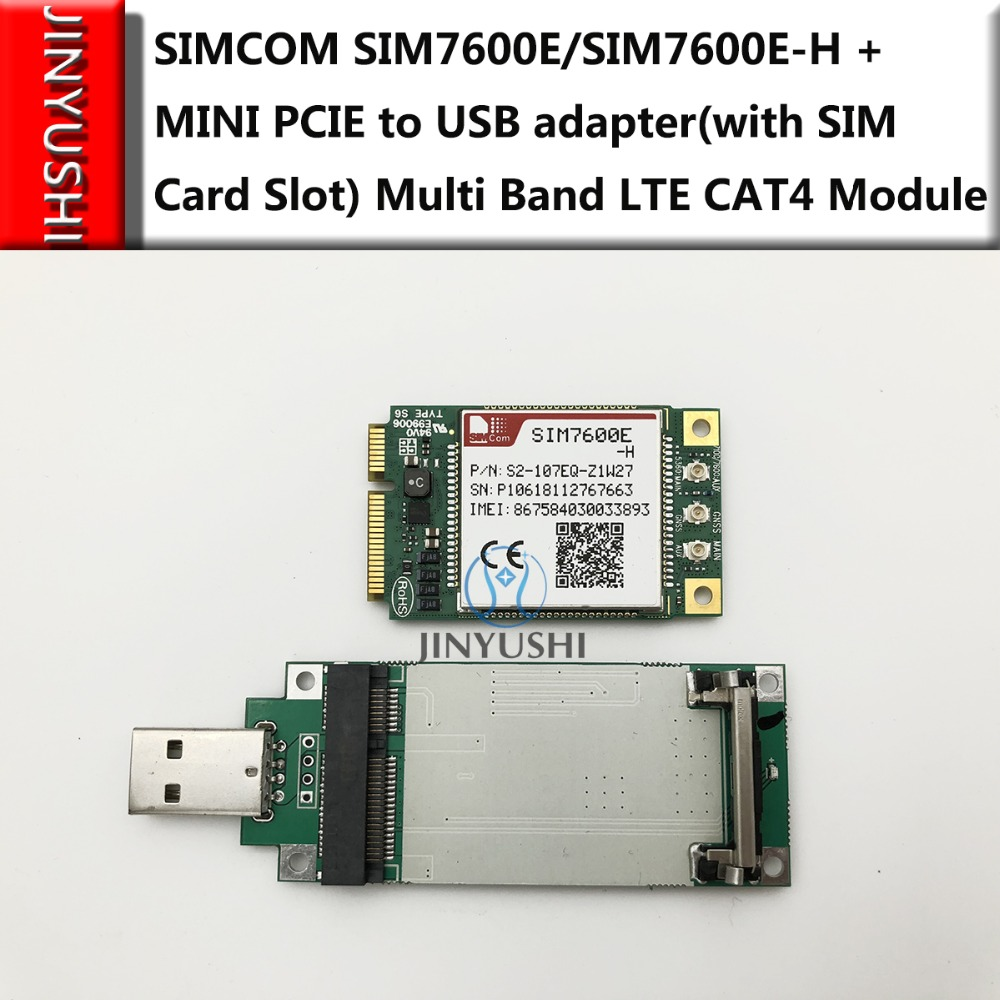 JINYUSHI for SIMCOM SIM7600E SIM7600E H MINI PCIE to USB adapter with SIM card slot Multi
