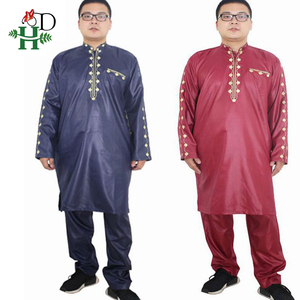 Image 5 - H&D african dresses for men Dashiki mens african clothing bazin outfit male tops pant suits 2 pcs Long Sleeves Shirt Plus size