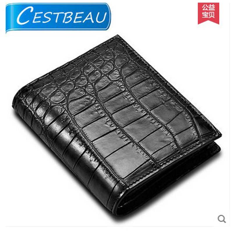 Cestbeau crocodile skin men clutch bag without splicing whole skin crocodile skin men wallet man bag inside outside crocodile men without women