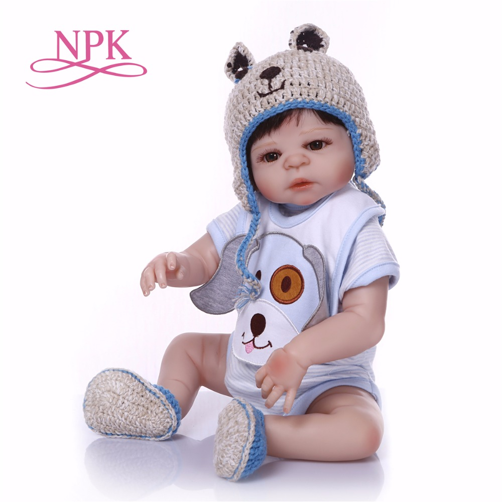 NPK Boneca Reborn 19inch Full Vinyl Reborn Baby Doll Toys Lifelike Child Birthday Xmas Gift HOT TOY for girl bebe reborn doll warkings reborn