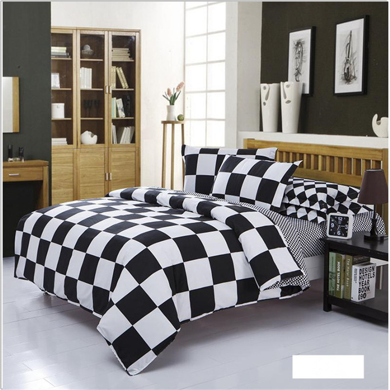 2017 Black and white Plaid Polyester Bedding Sets Stripe style Bedding bed linen 3/4pcs Bedding Set duvet set bed set bed linen2017 Black and white Plaid Polyester Bedding Sets Stripe style Bedding bed linen 3/4pcs Bedding Set duvet set bed set bed linen