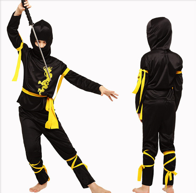 Ninja Costume For Children Cosplay Samurai Costumes Kids Warrior Clothing Halloween