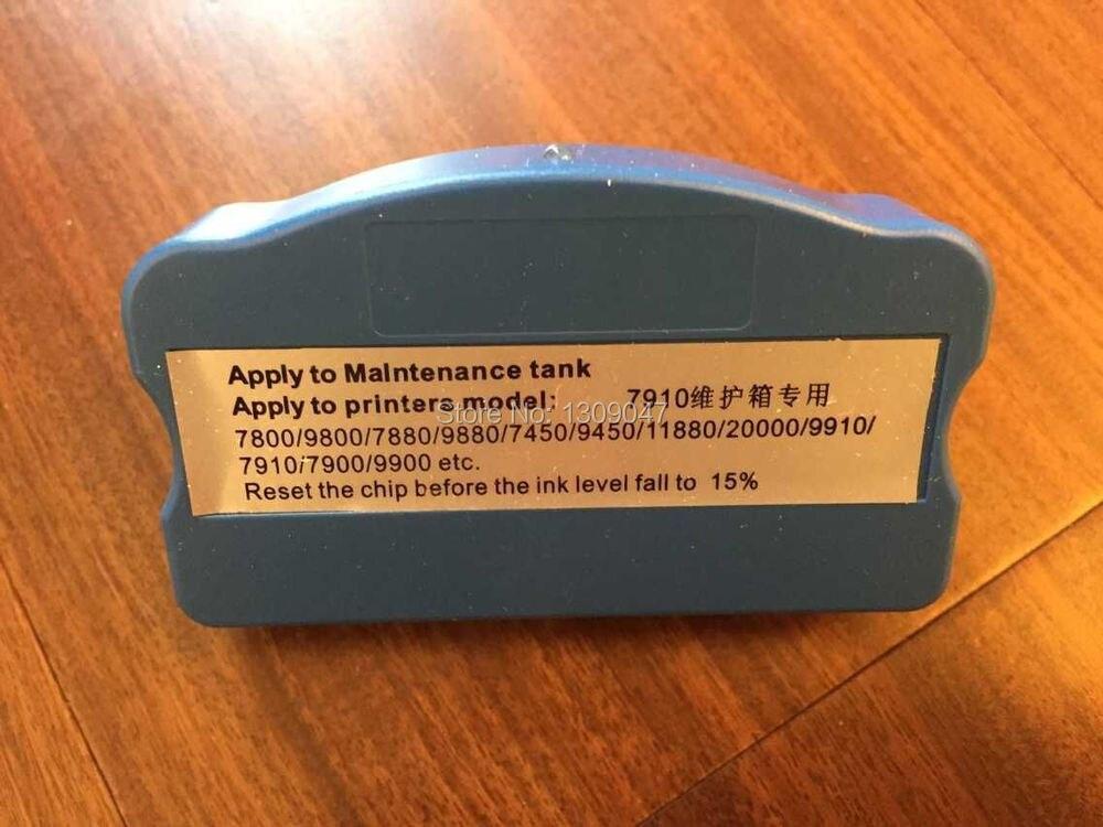 Chip resetter for Epson 9900 maintenance tank for 9900 waste ink tank waste ink tank chip resetter for epson 9700 7700 7710 9710 printers maintenance tank chip reset