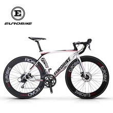 EUROBIKE Road Bikes Aluminum Frame 16 speed 700C Double Brake Mens  BICYCLE