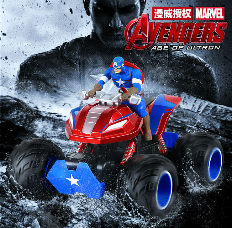 Hot Sell Captain America 4WD off-Road RC Car Rock Crawlers Driving Car 1/10 Scale RC Monster Truck 2.4GHz Double Motors Drive