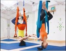 Фотография pull rope 250kg aerial yoga hammock swing full set 1*hammock+2* climbing hook+2*Rope+2*Fixed sucker+6*Handle