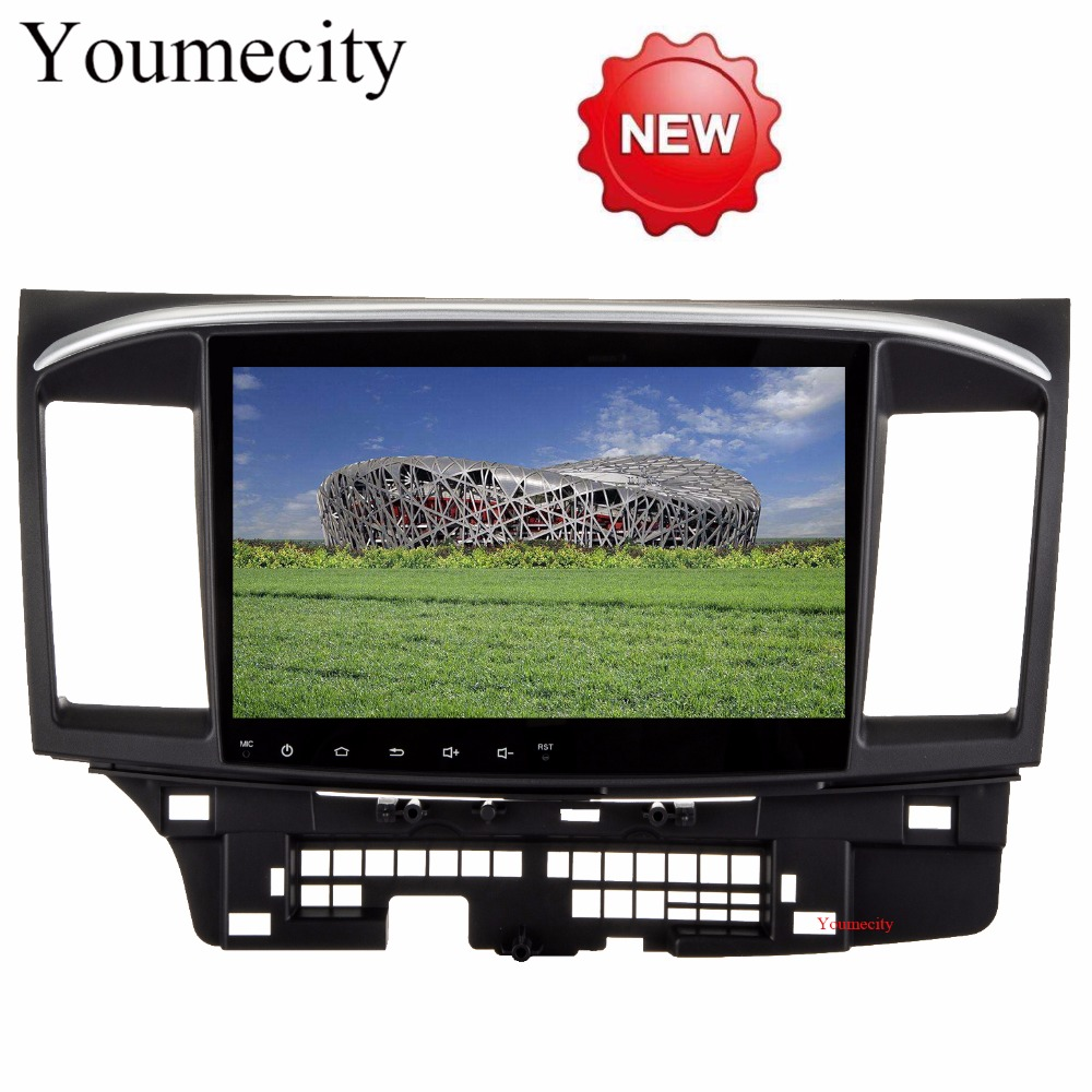 Youmecity!Octa Core Android 8.1 Car Dvd Gps Player For MITSUBISHI LANCER 2008-2016 9 10 Car Radio Video Stereo Audio Navigation