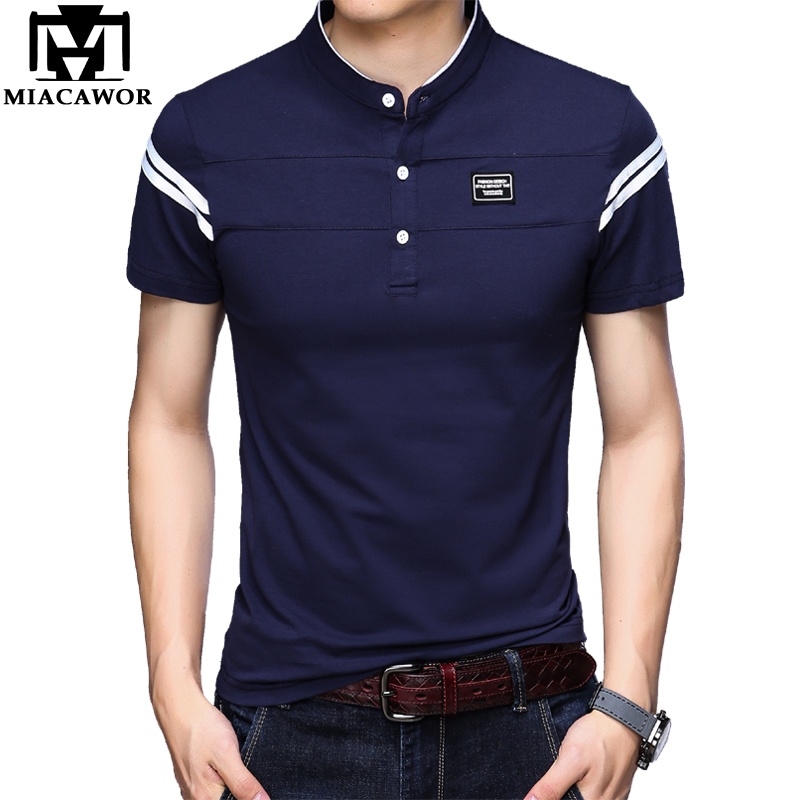8fa61a614f Polo Gelernt Miacawor Original Männer Polo Shirts Solide Farben T Hemd  Homme Slim Fit Camisa Kurzhülse Polos Para Hombre 9 Farben T747 Senility  VerzöGern ...