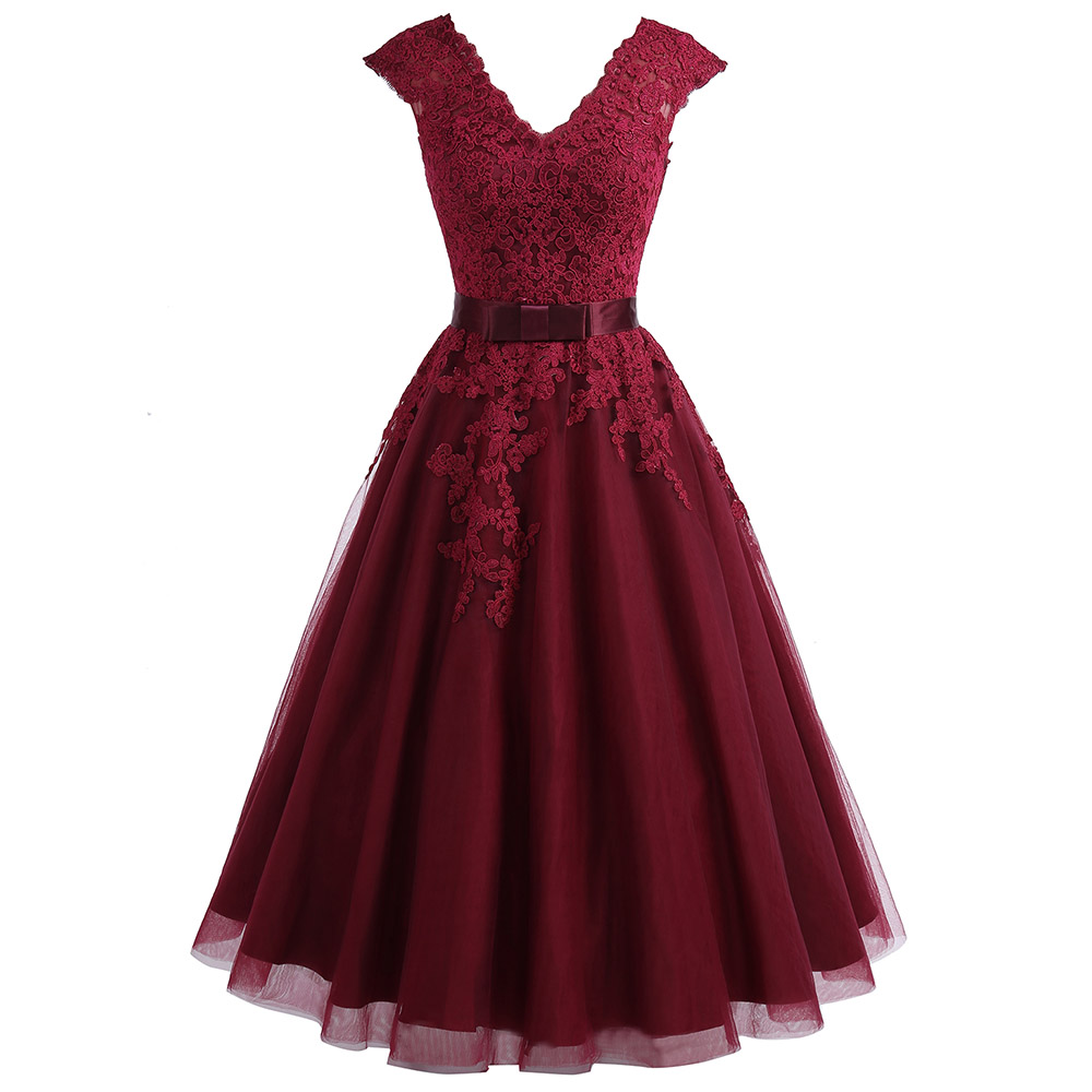 BeryLove-Tea-Length-Burgundy-Homecoming-Dresses-Short-V-Neck-Lace-Homecoming-Dress-With-Sleeves-Plus-Graduation