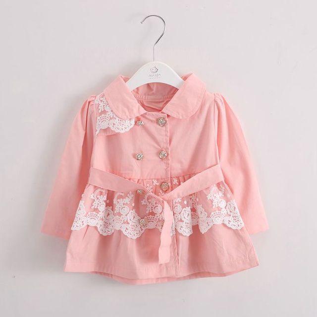 Anlencool 2017 Новый ребенок весной новый принцесса кружева куртка новорожденных девочек блузка baby clothing Корейская девушка моды пальто младенца clothing
