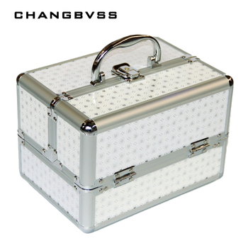 New Arrivel Portable Jewelry Box Make Up Organizer,Travel Makeup Storage Box,Cosmetic  Organizer Container Suitcase Cosmetic Case