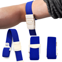 Free Shipping 2PCs Outdoor Camping Quick Slow Release Paramedic Buckle Elastic Belt Medical Emergency Tourniquet(China)