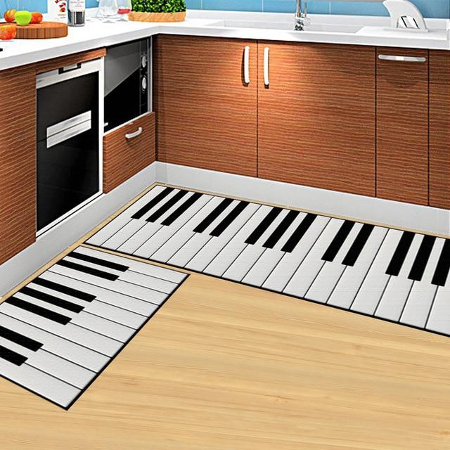 Klavier Tasten 3D Cartoon Stein Fußmatte Wohnzimmer Teppich Küche ...