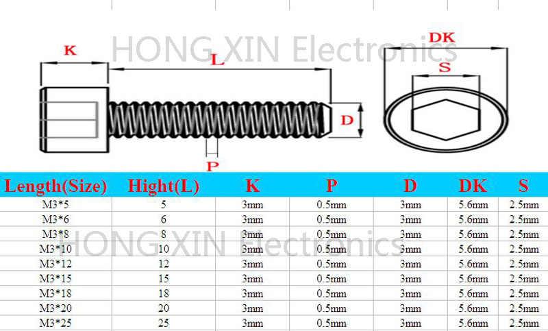 M3 * 6 Hitam 1 pcs Nylon Batin Hexagon Soket Kepala Topi Sekrup 6mm Plastik Baut Insolation merek RoHS compliant PC/papan DIY sekrup